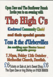 The High Cs Concert with special guests