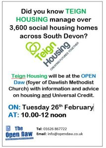 Teign Housing Drop in Session