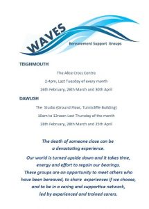 Waves Bereavement Group Teignmouth @ Alice Cross Centre